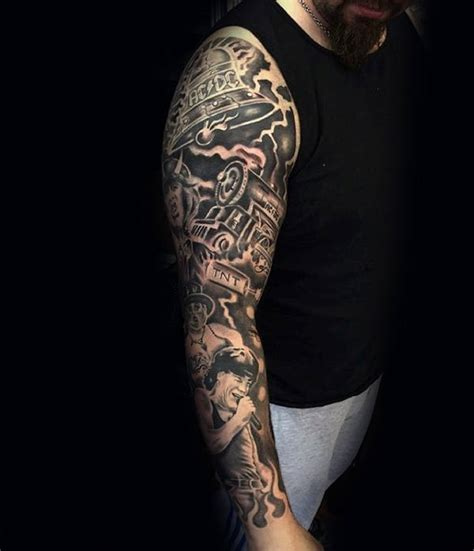 music sleeve tattoo designs 60 sleeve tattoos for lyrical ink design ideas