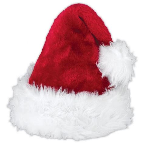 plush red deluxe christmas hat xmas hat santa secret