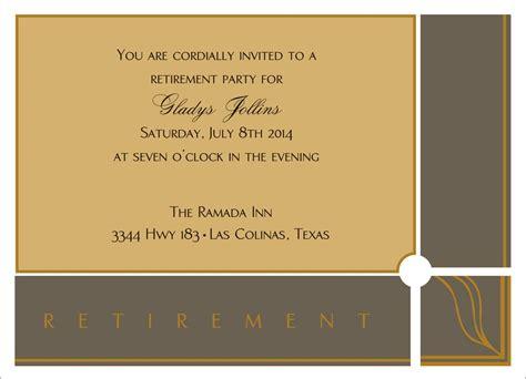 retirement invitation card template invitation card for retirement orderecigsjuice info