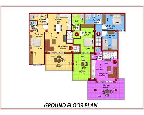 ground floor plan ground floor plan 2172 sq villa 3d view and floor