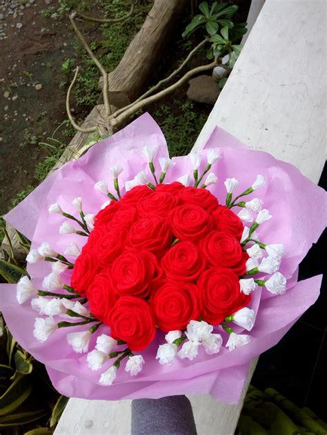 Bunga Flanel Bunga Wisuda Handmade Murah bunga flanel cantik jual bunga murah jambi