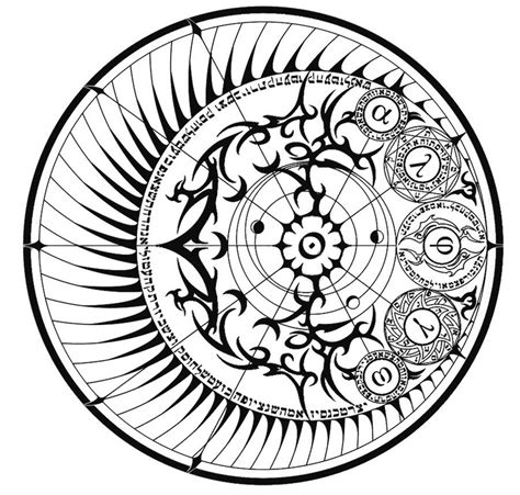Astrology Coloring Pages coloring page astrology cercle astre 14