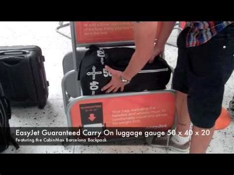 hand baggage below are the cabin and checked baggage easyjet guaranteed carry on luggage gauge 50 x 40 x 20