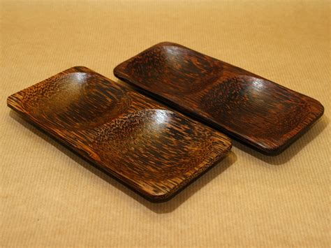 Japanese Lotus Square Plate L 15cm W 15cm H 35cm 1 coconut wood serving bowls at incense incenses
