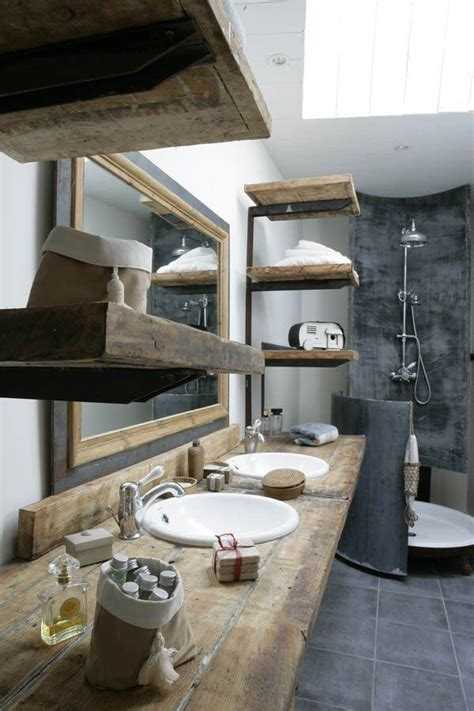 reclaimed bathrooms reclaimed wood shelves in the bathroom for my real