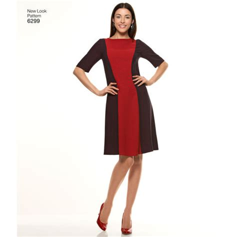 new look 6123 misses dress pattern for misses dress with neckline sleeve
