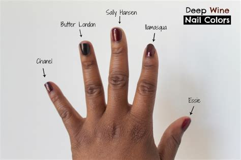 best nail color for brown skin 5 wine nail shades
