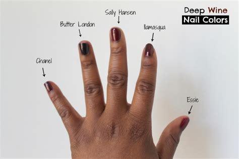 nail colors for brown skin 5 wine nail shades