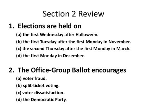 elections chapter 7 section 2 chapter money and elections collection of chapter 7