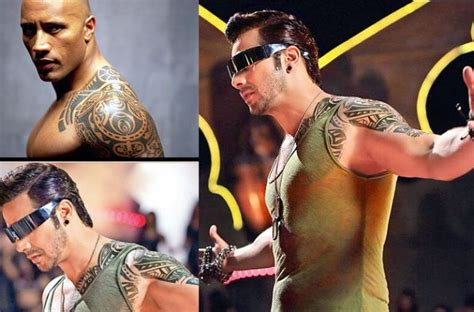 varun dhawan tattoo on hand design varun dhawan gets a compliment from dwayne rock johnson