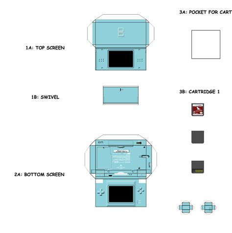 Papercraft Ds - papercraft templates search mini electronics