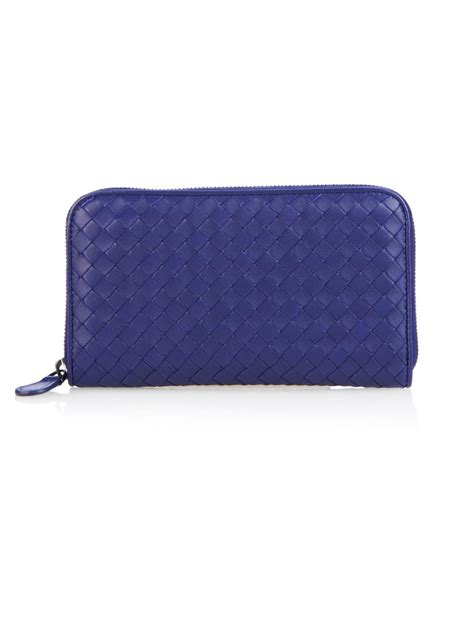 Bottega Veneta Intrecciato Karung Leather Wallet by Bottega Veneta Intrecciato Leather Zip Around Wallet In