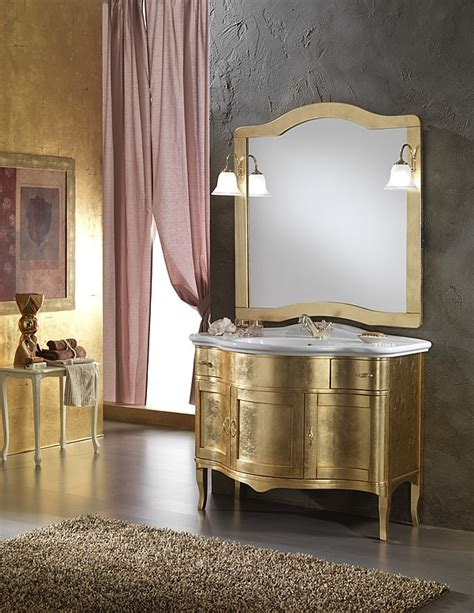 arredo bagno classico prezzi mobili bagno classico zenith foglia oro