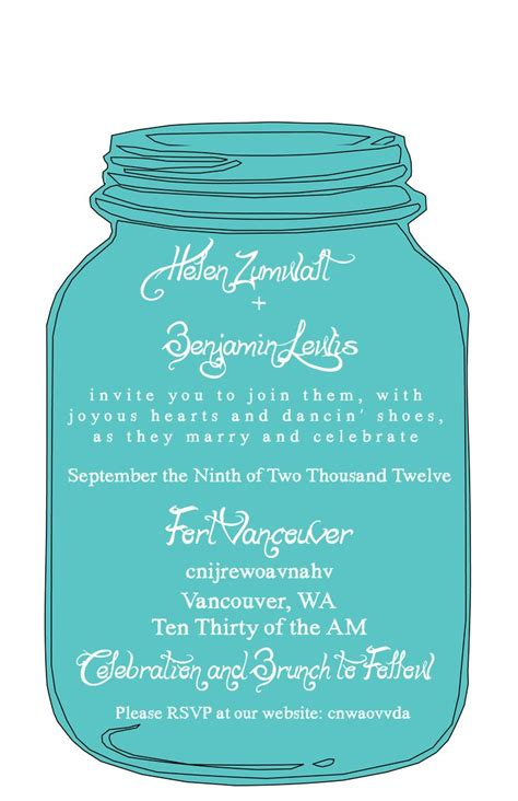 jar invitations template free 1000 images about jar invites on free