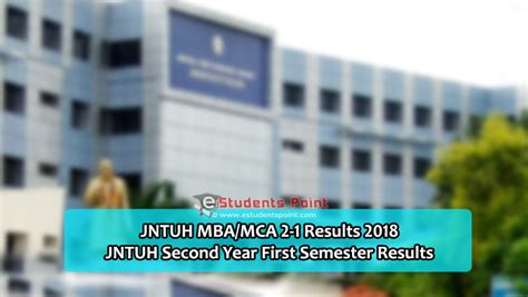 Mba Results 2013 Jntuh by Jntuh Mba Mca 3rd Sem 2 1 Results 2018 Jntu Hyd Pg 2nd