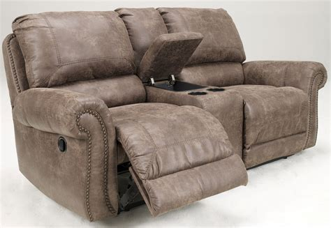 dual power reclining loveseat with console oberson gunsmoke power reclining loveseat with