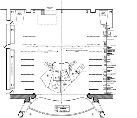 stage floor plan scenic design