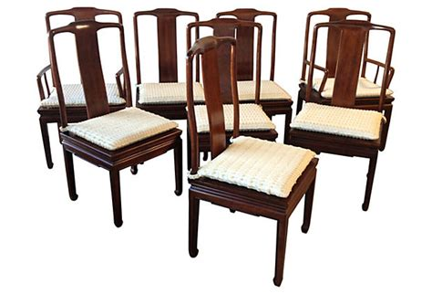 Asian Dining Chairs Henredon Asian Inspired Dining Chairs S 8 Modern Vintage Mix