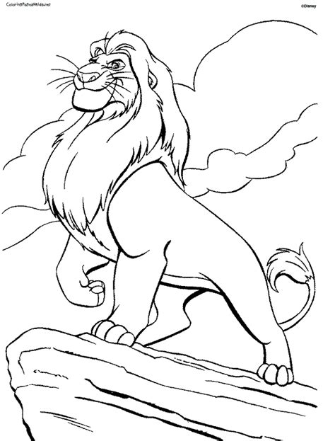 Lion King Coloring Pages Free Online | coloring page lion az coloring pages