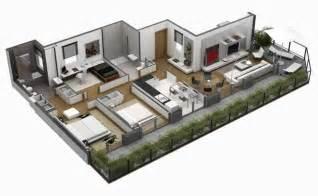 Planos De Casas En 3d Planos 3d Departamentos Buscar Con Google Planos 3d