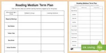 medium term plan template colour wheel reading medium term planning template new