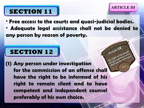 article 3 bill of rights section 9 explanation article iii sections11 16