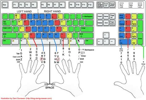 keyboard layout finger position proper typing posture position of the hands on the
