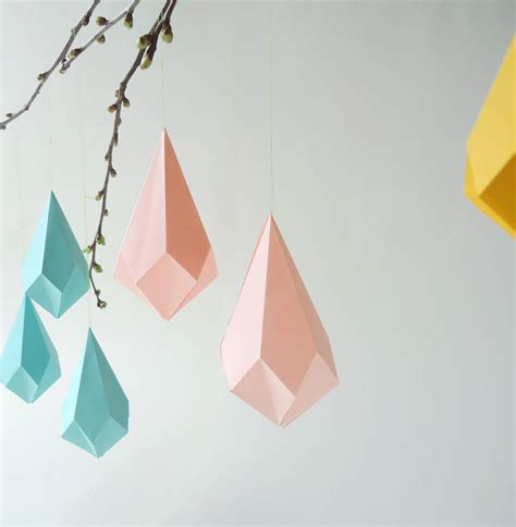 How To Make 3d Geometric Shapes Out Of Paper - origami origami template origami shapes and