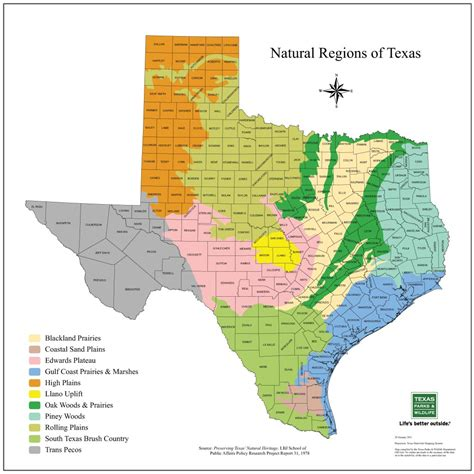texas plains map new landowners agrilife extension wildlife fisheries