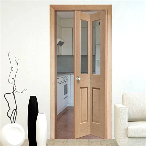 Bifold Interior Door Interior Bifold Doors Malton Oak Bi Fold Door With Clear Safety Glass