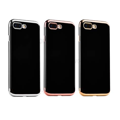 Ipaky Joyroom Electroplating Iphone 7 7g Hardcase Casing Iphone7 hoco obsidian series plating tpu phone for iphone 7 plus silver