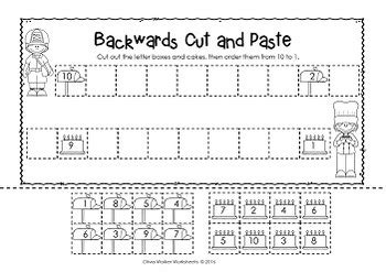 Counting Backwards Worksheets Grade 1 by Counting Backwards From 10 Ten To One Kindergarten Worksheets And Printables