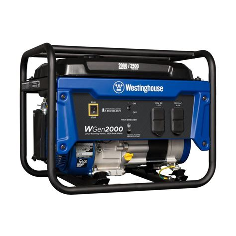 westinghouse wgen 2 000 2 500 watt gas powered portable