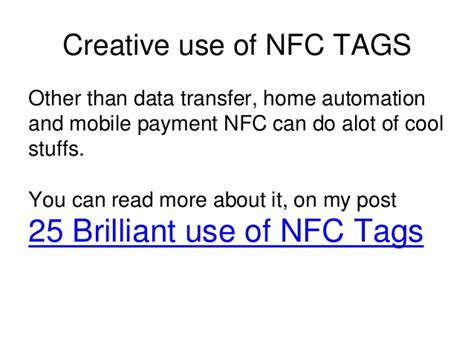 what is nfc technology power point presentation