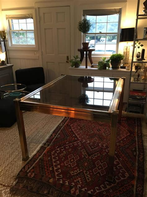 glass extension dining tables mastercraft brass and smoked glass extension dining table