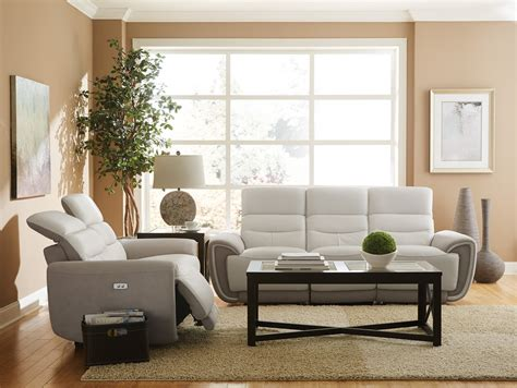 homelegance reclining sofa homelegance valda power reclining sofa set top grain