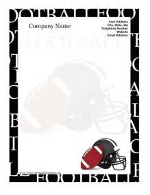 Free Football Template Printable Football Letterhead