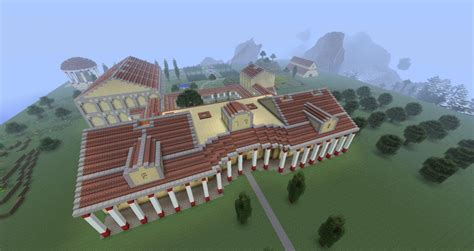 Level Furnished Living by Ancient Roman Villa Minecraft Project