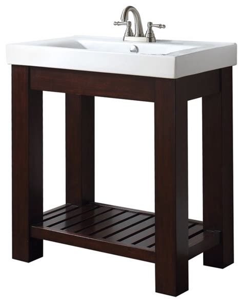Sink Vanity With Open Shelf 31 Inch Single Bathroom Vanity With Open Shelf