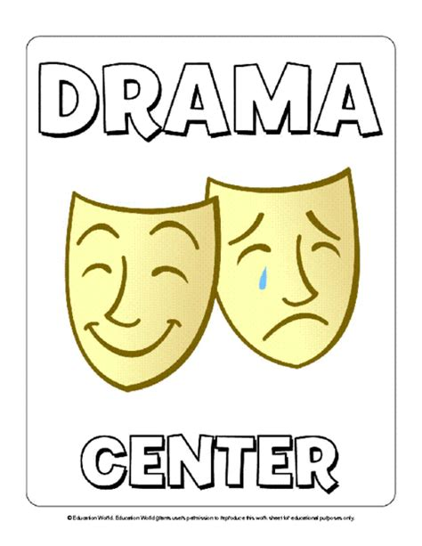 8 Signs That You Are A Drama by Center Signs Clipart 62
