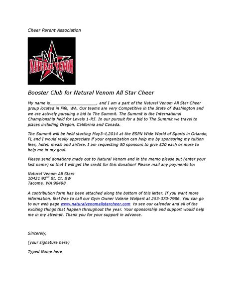 Sponsorship Letter Cheerleading Summit Sponsorship Letter By Venom Issuu