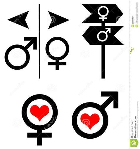 imagenes simbolos hombre y mujer s 237 mbolo de la mujer del hombre stock de ilustraci 243 n