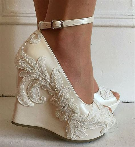 Wedding ,Wedding Wedge Shoes, Bridal Wedge Shoes,Bridal
