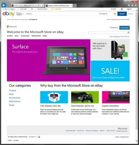 webstore your own ebay storefront microsoft opens up its own ebay storefront neowin