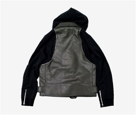 Jaket Sweater Fleece Converse Two T1310 3 undercover leather biker sweater jacket hypebeast