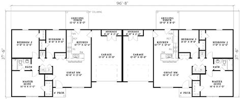 Duplex Floor Plans 2 Bedroom by Three Bedroom Duplex 59624nd Architectural Designs