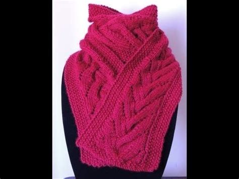 tejiendo a dos agujas elegante bufanda con trenza en crochet dos agujas parte 1