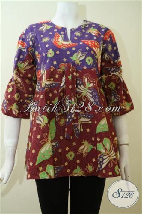 Baju Wanita Paling trend busana batik wanita muda dan dewasa paling baru baju batik desaintrendy dengan motif kupu