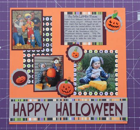 scrapbook layout ideas for halloween sew scrappy day simple halloween scrapbook layout
