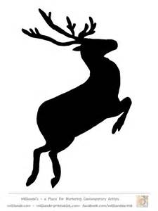silhouette templates reindeer silhouette template flying reindeer silhouettes